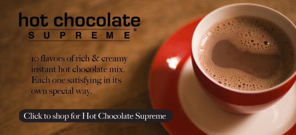 10 flavors of rich and creamy instant hot chocolate mix