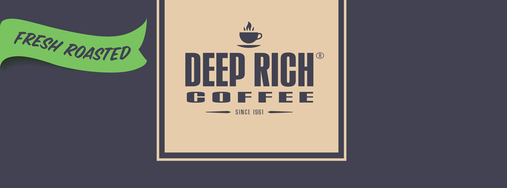 Deep Rich Coffee - Roasted and ground and whole bean coffee.