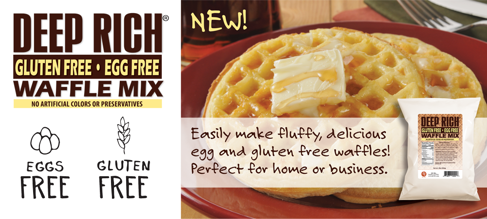 Deep Rich Egg Free and Gluten Free Waffle Mix